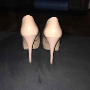 Guess Shoes - Guess Nude Peep Toe Heels